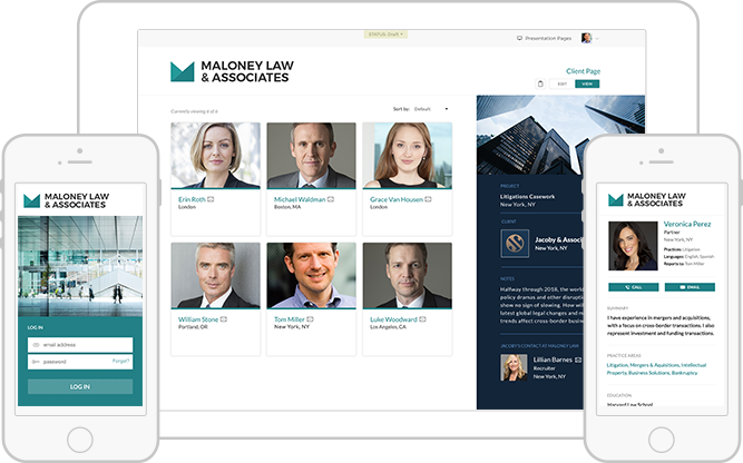 View your Directory and Client Pages with a responsive interface accessible from any desktop, tablet, or mobile device.